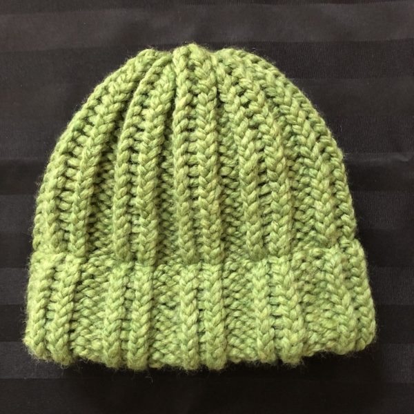 image of a Lime Green knit hat