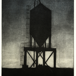 Mezzotint of a grain holder