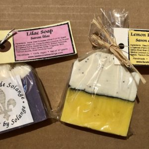 Image of Lilac & Lemon Poppy Seed Soaps