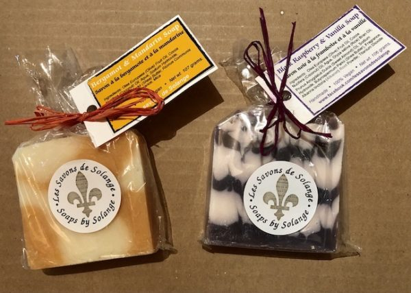 Bergamont & Mandarin and Black Raspberry & Vanilla Soaps